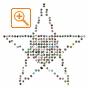 フォトシェイプサンプル フォトパーツ特殊形状星形