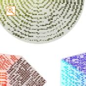 四字熟語を様々な方向に書いたメッセピクチャアート1