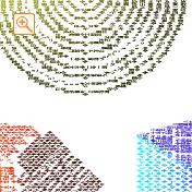 四字熟語を様々な方向に書いたメッセピクチャアート2