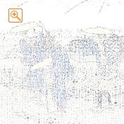 浮世絵を名言等で縦書きにしたメッセピクチャアート
