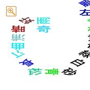 四字熟語をらせん状に書いたメッセピクチャアート2